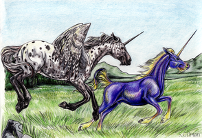 Drogo and Daefir take a gallop by lunatteo