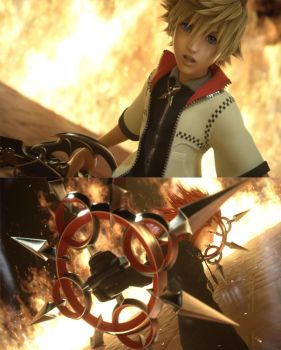 Kingdom Hearts Dream Drop Distance: Roxas and Axel by GamerGirlX64