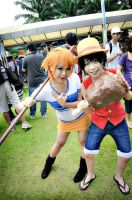 CosFest 2012 Day 1 - Event (Luffy and Nami) by CerealAddiction