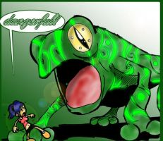 Dangerful Frog by superultimateomega