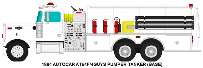 Autocar AT64F 4guys pumper tanker base by MisterPSYCHOPATH3001