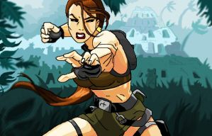 Tomb Raider Underworld - Paint by axond