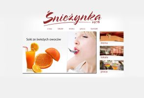 Sniezynka web design. by michaelblackpl
