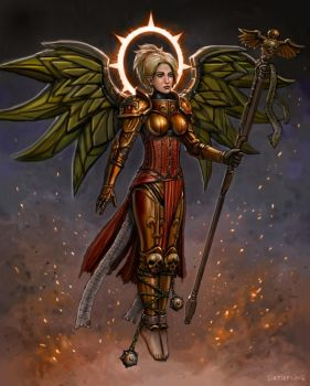 Mercy the Living Saint by SirTiefling