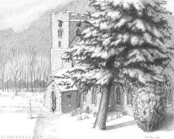 Saint Mary's in Snow by banjodi
