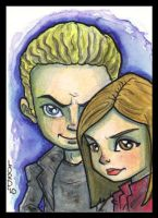 Buffy and Spike SketchCard by lordmesa
