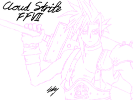 Cloud Strife Game V WIP by SkyWhiteFox