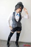 Sebastian Michaelis Circus (Black)- Female Version by DarkTeshii