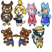 ACNL Charms by Darkkako