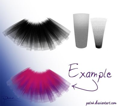 tulle brush by palnk