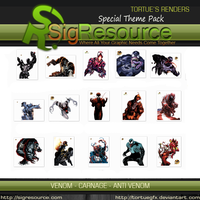 Special Render Pack : Venom - Carnage - Anti Venom by Tortuegfx