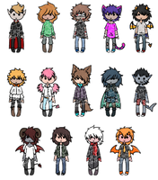Chibi Adopts- OPEN (2 LEFT) by SkysDesigns3