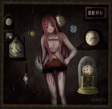 Time is running out + speedpaint by IDeathhoundI