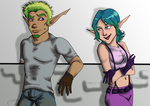 Jak and Keira by Goten0040