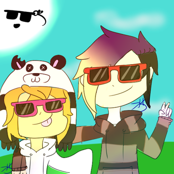 when you wear sunglasses you be like (OCs) by kookiekrummble