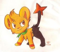 Barry as a Shinx by Phoelion
