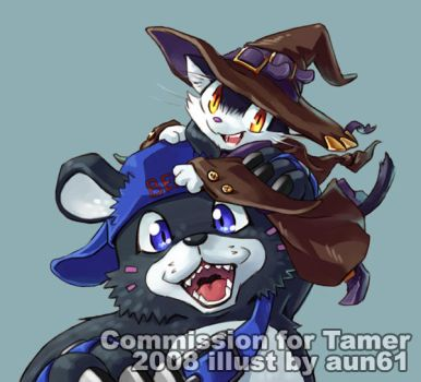 Tamer and Bearmon by aun61