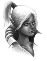 Dark Elf - RPG Illustration by orgo