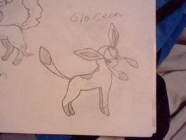 Glaceon Sketch by UltimaCreations