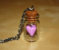 Love in a Bottle Necklace by KilllerCupcake