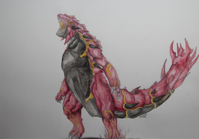Realistic Primal Groudon by AlzoKs
