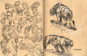 recent sketchbook pages 3 by davidsdoodles