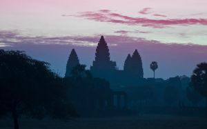 Angkor Wat with library by amigaboi