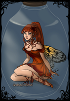 Thumbelina and Cornelius' child (fall) by StoryBaby1353