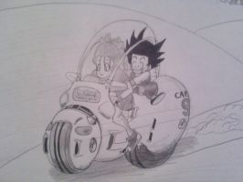 Bulma and Goku by Krizeii