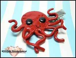Octopus Hairclip by GrandmaThunderpants