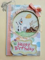 Handmade/Painted Disney's Frozen Birthday Card by PossumPip-Creations