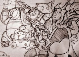 My Pokemon Team: Sketch by Chansey123