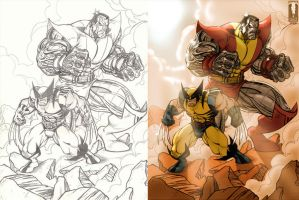 Colossus and Wolverine by Marvelfans