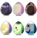 [CLOSED] Blind Scene Fox Egg Batch Adoptable 3 by MeowTerrAdopts