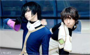 Lelouch and Suzaku by middlingessence