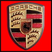 Porsche Automotive Crest Macro by FantasyStock