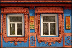 Windows of the Russian village by Nickdan