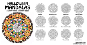 Halloween Mandalas adult coloring book by candy-hippie