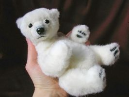 Ooak plush bear needle felted by ivetae123