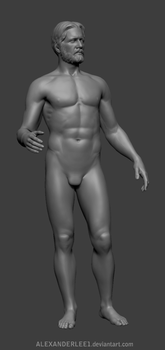 ZBrush male sculpture by AlexanderLee1