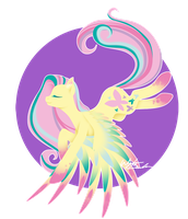 Rainbow Power - Fluttershy by FuyusFox