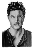 Jensen Ackles (Dean Winchester from Supernatural) by Thessa-drawings