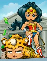 Wonder Woman and Cheetah by lordmesa