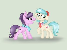 Suri Polomare and Coco Pommel by NicoleTheBluePony