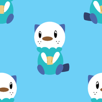 Oshawott Tile Background by BuizelKnight