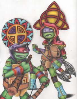 Raph and donnie by The-tessen-kunoichi