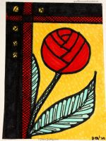Red Rose  ATC 48 by Quaddles-Roost