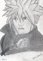 Cloud Strife (drawing 1) by Megaman-NetNavi