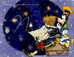 Thinking of you - KH2 by Nainu