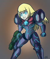 PED corrupted Samus by Anaugi